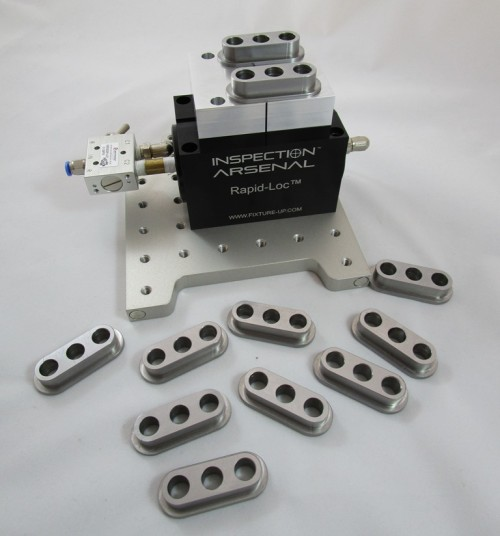 2.5 Rapid-Loc™ System - 1 Vise on 6x6 LNL plate