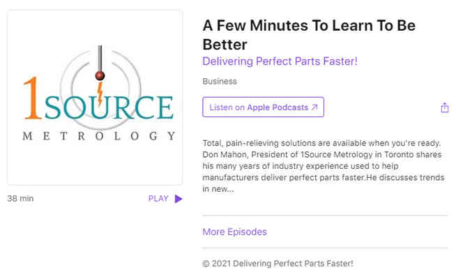 A Few Minutes to Learn to be Better - 1Source Metrology Interview
