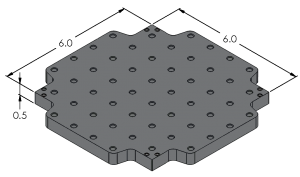 Indexible Loc-N-Load™ Plate - LNL-0606-4x