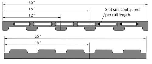 Loc-n-Load Docking Rails - Inch
