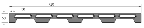 LNL-DOCK-M720 Metric Docking Rail 50 x 720mm