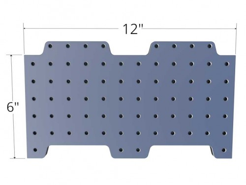 Loc-N-Load Plate - 12 x 6 with two tongues