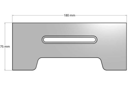 Optical Comparator Docking Rail - M180
