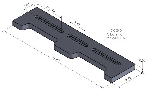 Open-Sight 12 Inch Docking Rail