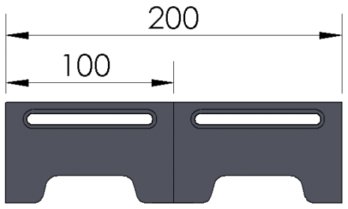 Open-Sight Docking Rails - Metric
