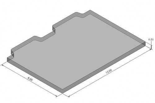 Open-Sight™ 12x8 Inch Vision Plate Blank