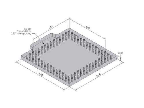 Open Sight 8 x 8 Fixture Plate
