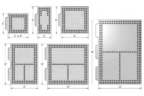 Open-Sight Plate Dimensions - Inch