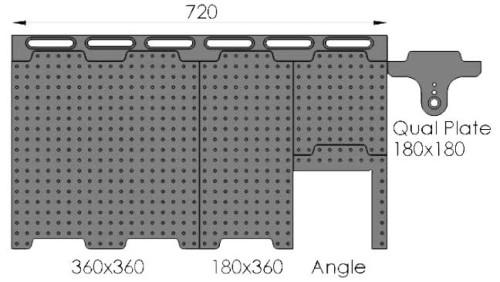720mm Docking Rail & Plate System