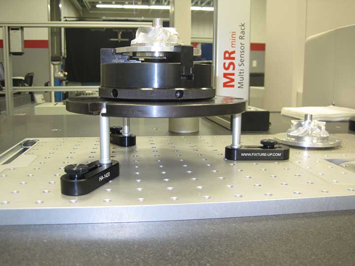 Metalstorm 2014 - Multi-sensor machine, Loc-N-Load™ docking rail, plates and Hole Adjusters with Silver Bullet™ stand offs.