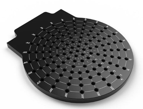 Radial Loc-N-Load™ inspection fixture plate.