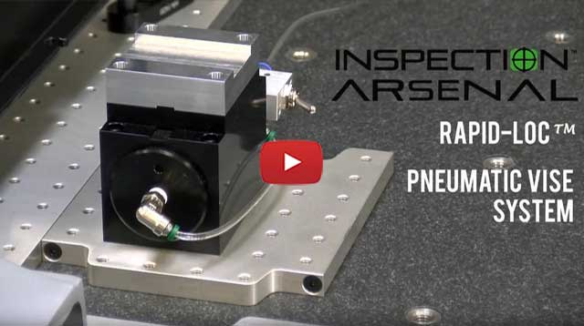 Rapid-Loc™ Pneumatic Vise for CMM Inspection