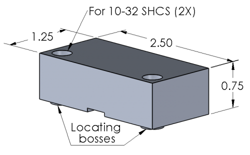 Soft Jaws for Rapid-Loc™ Air Vise - Machinable Soft Jaw set
