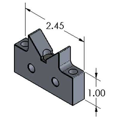 V-Block Magnetic Aluminum Stand-off Inch