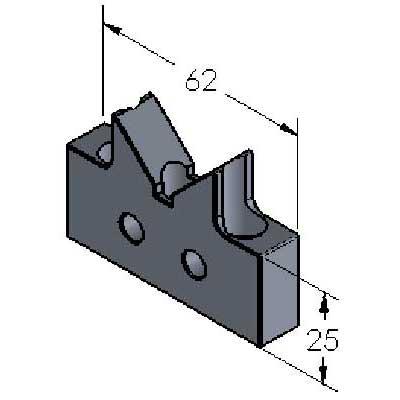 V-Block Magnetic Aluminum Stand-off Metric